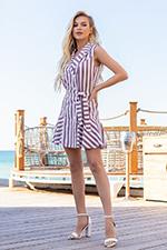 Мини-платье с пуговицами