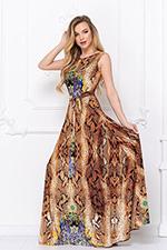 Анималистический принт платье бирюза