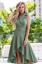 Платье-халат с асимметричной юбкой