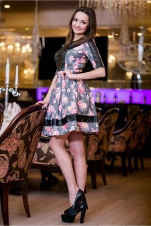 Повседневное платье 5023e, фото 2