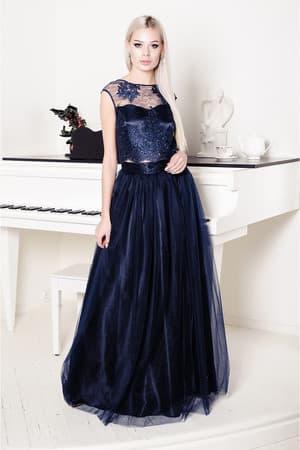 Вечернее платье с раздельным топом, фото 1