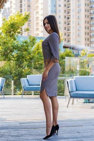 Повседневное платье 8142e, фото 3