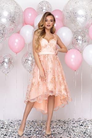 Коктейльное платье с асимметричной юбкой, фото 4