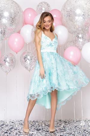 Коктейльное платье с асимметричной юбкой, фото 3