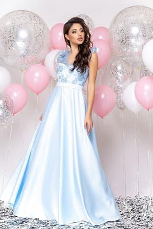 Вечернее платье с декором на плечах, фото 4