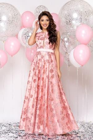 Вечернее платье с прозрачной вставкой, фото 1