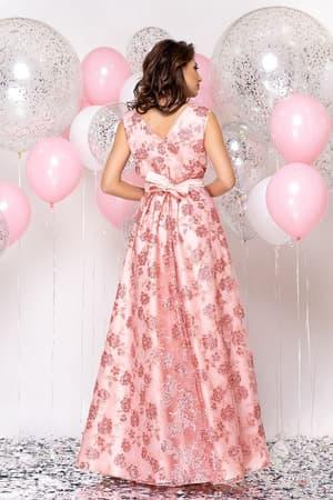 Вечернее платье с прозрачной вставкой, фото 2