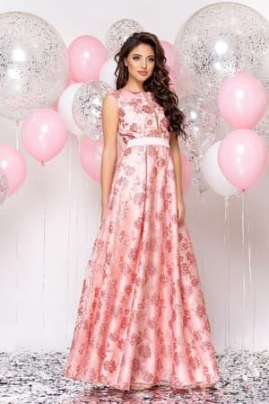 Вечернее платье с прозрачной вставкой, фото 3