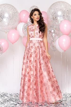 Вечернее платье с прозрачной вставкой, фото 4