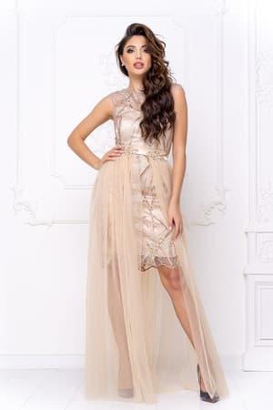Коктейльное платье со съемной юбкой, фото 1