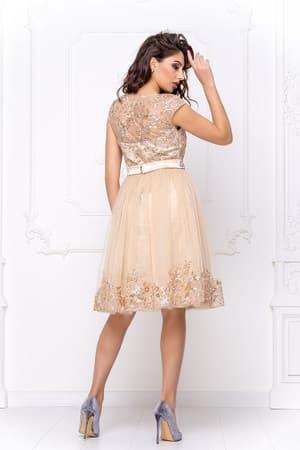 Коктейльное платье с декором на юбке, фото 2