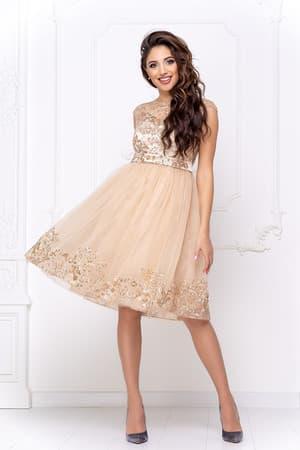 Коктейльное платье с декором на юбке, фото 4