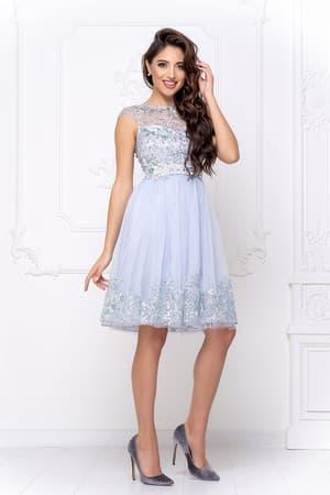 Коктейльное платье с декором на юбке, фото 3