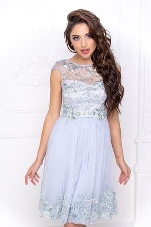 Коктейльное платье с декором на юбке, фото 5