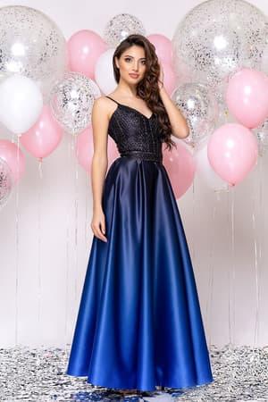 Вечернее платье со стразами на топе, фото 3