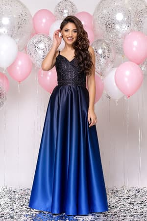 Вечернее платье со стразами на топе, фото 4