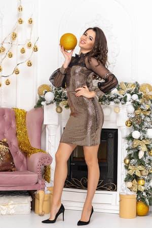 Коктейльное платье Блеск, фото 3