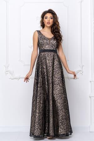 Вечернее платье с прозрачной спиной, фото 4