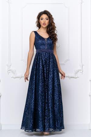 Вечернее платье с прозрачной спиной, фото 1