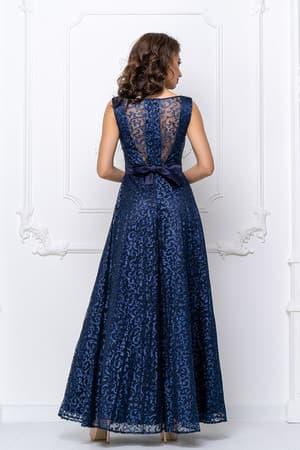 Вечернее платье с прозрачной спиной, фото 2
