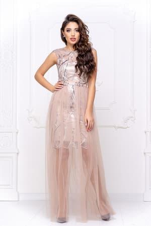 Коктейльное платье со съемной юбкой, фото 4