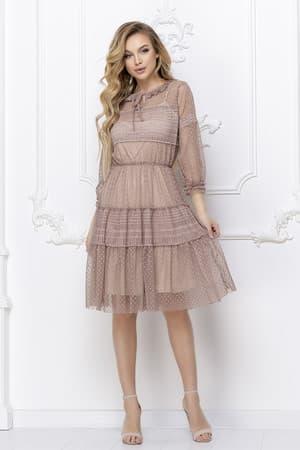 Повседневное платье из легкой сетки, фото 1