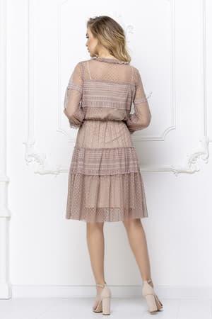 Повседневное платье из легкой сетки, фото 2