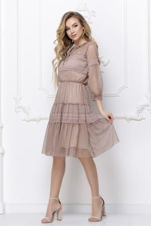 Повседневное платье из легкой сетки, фото 3