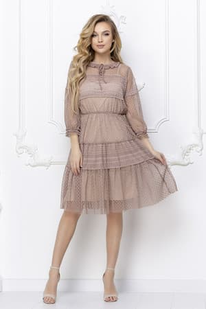 Повседневное платье из легкой сетки, фото 4