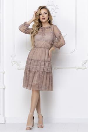 Повседневное платье из легкой сетки, фото 5
