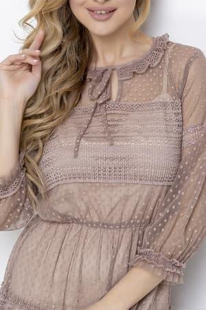 Повседневное платье из легкой сетки, фото 7