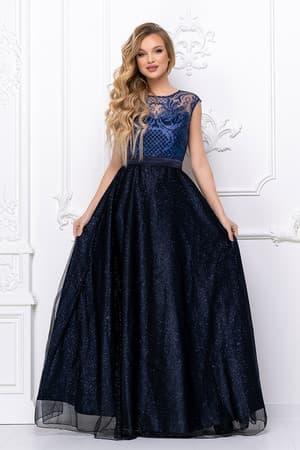 Вечернее платье с сияющими узорами, фото 1