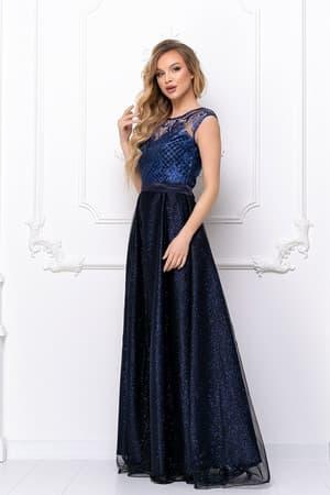 Вечернее платье с сияющими узорами, фото 3
