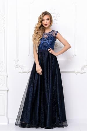 Вечернее платье с сияющими узорами, фото 4