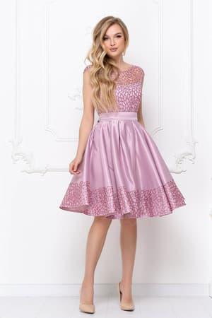 Коктейльное платье с нежным рисунком, фото 1