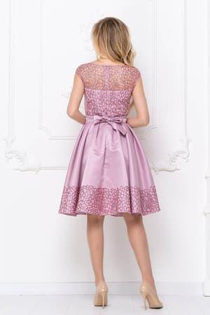 Коктейльное платье с нежным рисунком, фото 2
