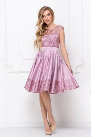 Коктейльное платье с нежным рисунком, фото 4