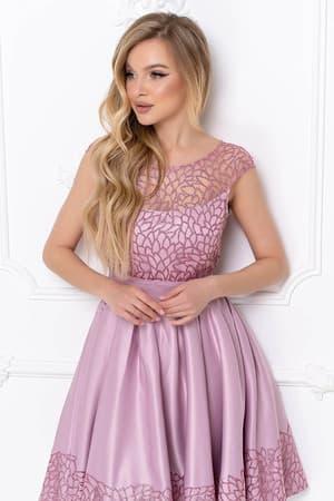 Коктейльное платье с нежным рисунком, фото 5