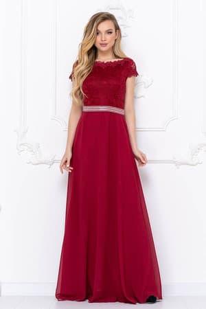 Вечернее платье с блестящим поясом, фото 1