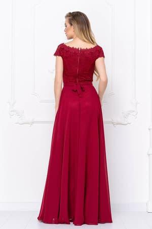 Вечернее платье с блестящим поясом, фото 2