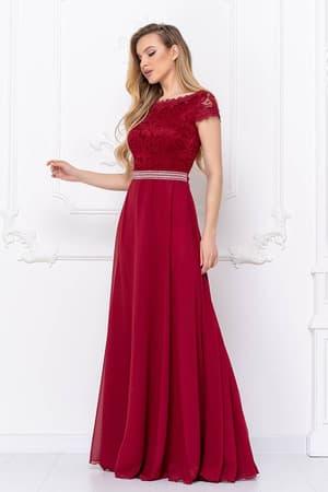Вечернее платье с блестящим поясом, фото 3