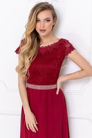 Вечернее платье с блестящим поясом, фото 4