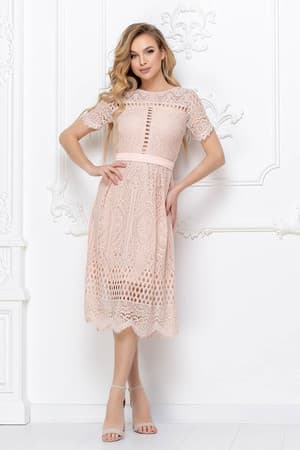 Повседневное платье из гипюра, фото 1