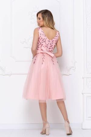 Коктейльное платье с декорированным верхом, фото 2