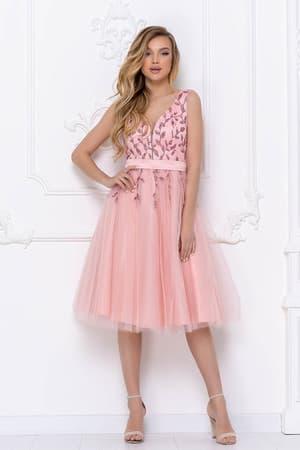 Коктейльное платье с декорированным верхом, фото 4