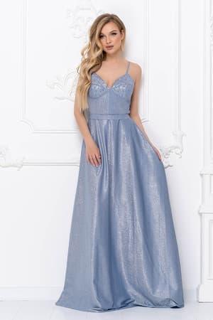 Вечернее платье с тонкими бретелями, фото 1
