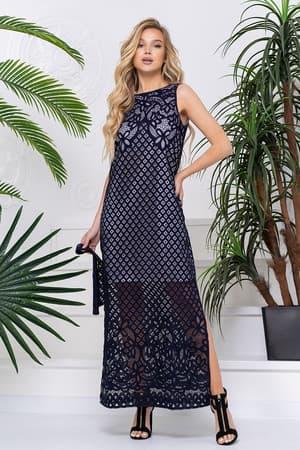 Повседневное платье с прозрачными вставками, фото 1