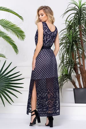 Повседневное платье с прозрачными вставками, фото 2