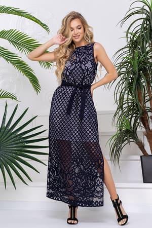 Повседневное платье с прозрачными вставками, фото 4