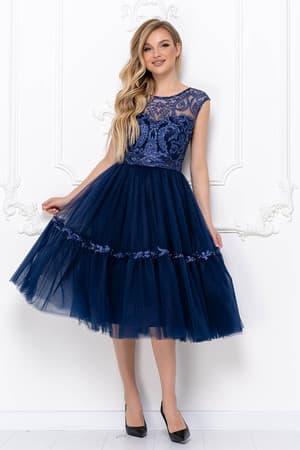 Коктейльное платье с пышной юбкой, фото 1